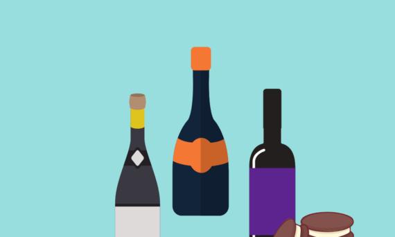 oreos and wine